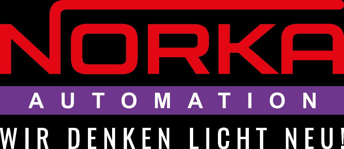 Logo der NORKA Automation - Wir denken Licht neu!